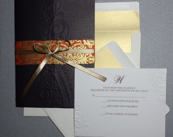 Gold Says Elegance - Wedding invitation Suite (SAMPLE CARD)