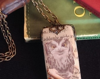 Owl Post Domino Necklace