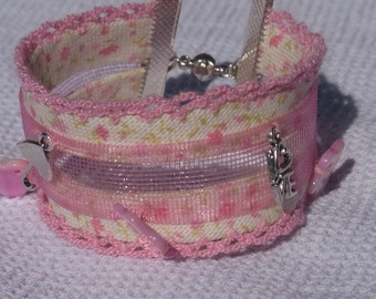 """Chic """"shabby"""" Cuff Bracelet with charms"""