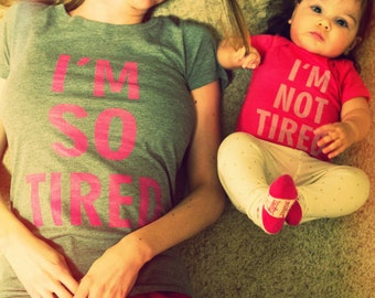 I'm So/Not Tired Tee Set