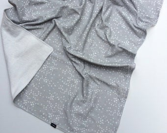 Grey Painted White Dots Blanket