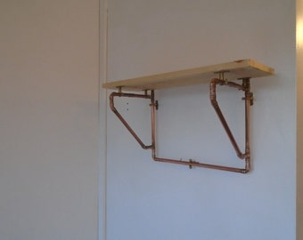 Copper frame Shelf for your Kitchen/Hallway/Bathroom for that Industrial/Steampunk/Quirky look