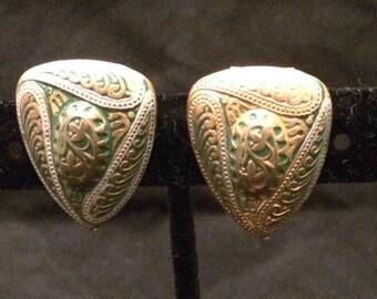 Vintage Goldtone Clip-on Earrings