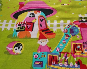Michael Miller cotton  ''Easter In Gnomeville''