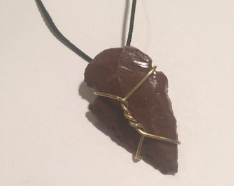 Umber Arrowhead Necklace