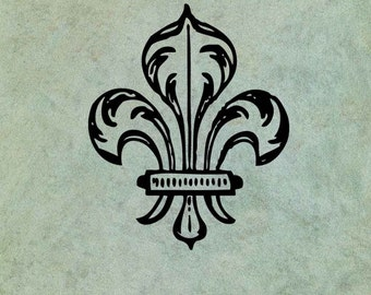 Fleur de Lys  - Antique Style Clear Stamp