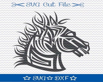 Tribal Horse SVG File / SVG Cut File for Silhouette / Trojan Horse svg / Tribal svg
