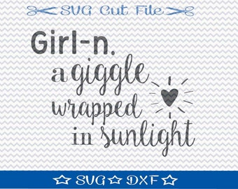 Little Girl SVG File /  SVG Cut File for Silhouette / Daddy's Little Girl SVG / Svg Sayings / Svg Quotes