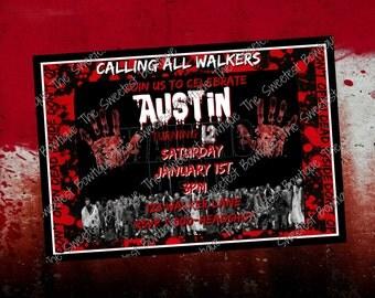 The Walking Dead Invitations PRINTABLE JPEG
