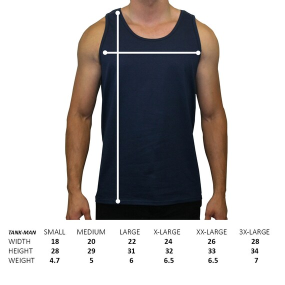 Male Static Stretching Chart: A Tank Top For Men Size Chart Not For Sale For Customer