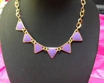 Bracelet purple triangle