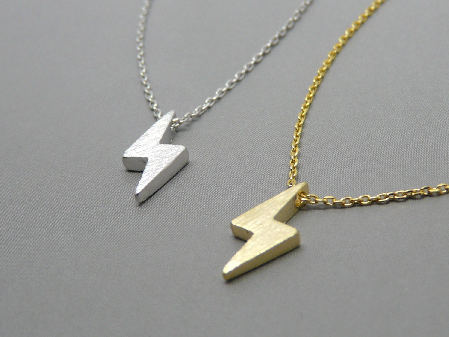 tiny bolt necklace lightning bolt necklace thunder necklace
