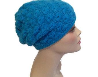 Women's Hat Crochet gentle-blue,   gentle-blue Beanie, Hat Accessories, Beanie