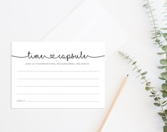 Time Capsule Wedding Guest Book Alternative Baby Shower Cards