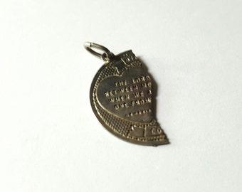 Sterling Silver Half Prayer Charm