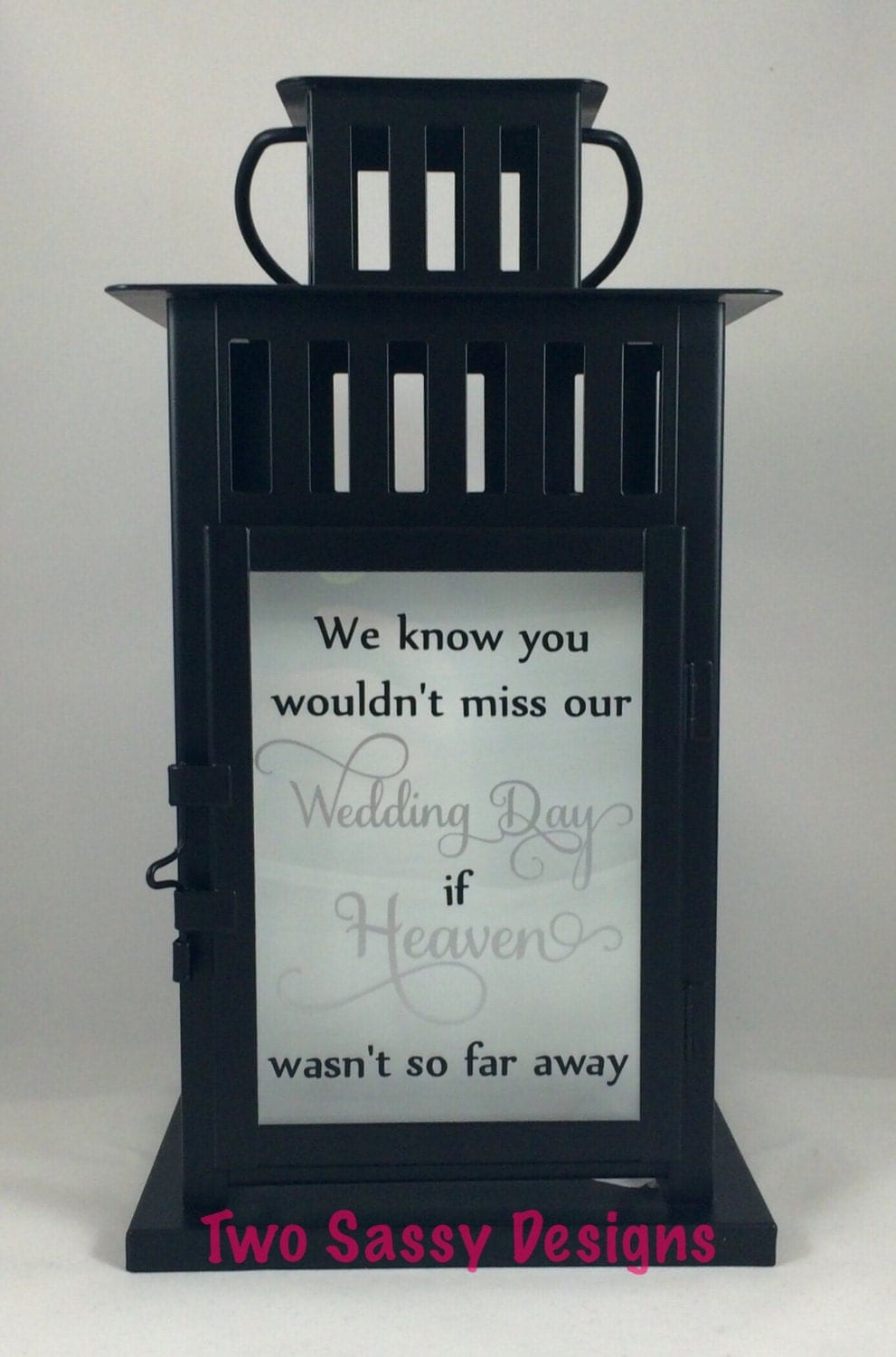 Memory lantern wedding table candle