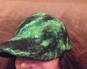 Felted ball cap