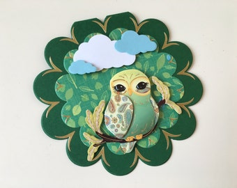 Flower card with OWL