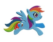 Rainbow Dash Little Pony Embroidery Design | Little Pony Embroidery | Children Embroidery | Rainbow Dash Machine Embroidery