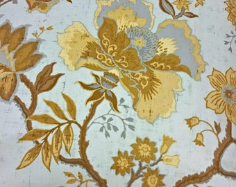 """Blue and Tan Floral pillow cover 20"""" X 20"""".   I have 2 available"""