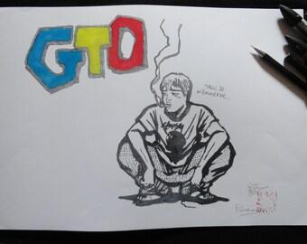 Poster of Onizuka manga GTO (Great Teacher Onizuka), format A3, printing limited