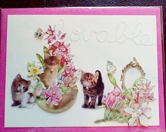 Lovable Kitties ~ from our Victorian Kitties Collection
