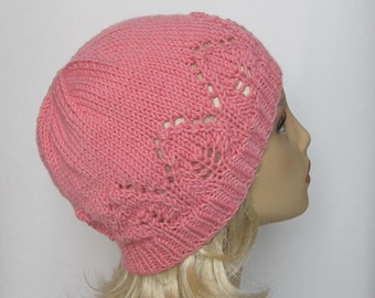 "Instant Download Knitting Pattern Hat ""Claudia"" for a Lady"