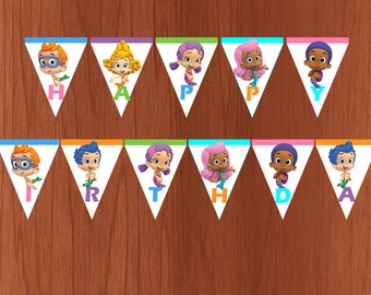 Bubble Guppies Printable Happy Birthday Banner (Instant Download)