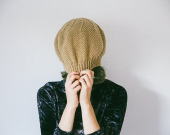 Autumn/Fall Handmade Knitted BERET HAT - Colour Options, Free Customization, Unique, Durable, French Beret, Trendy, Pattern