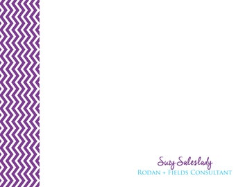 Custom Chevron Notecard