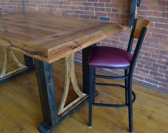 Custom Made Rustic Pub Table Made in the USA