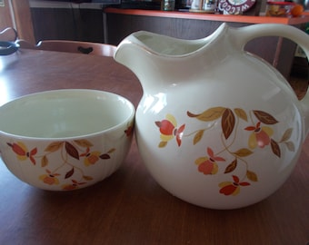 Jewel T pitcher and matching bowl
