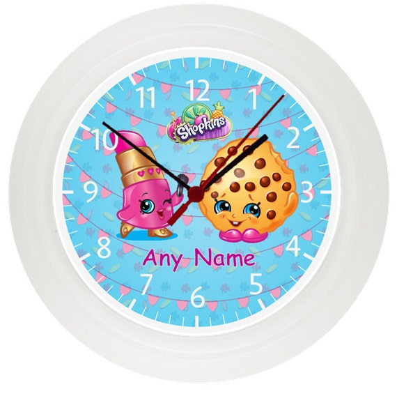 Personalised Shopkins Wall Clock Children 39 S Bedroom