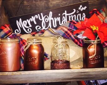 Mason jars custom hand painted