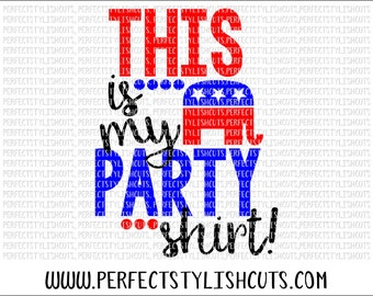 Party Shirt Republican SVG, DXF, EPS, png Files for Cutting Machines Cameo or Cricut - Election 2016 Svg, President Svg, Vote Svg