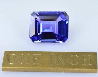 AAA Investor vault emerald cut Tanzanite 4.17 carats. December's Birthstone.