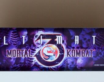Ultimate Mortal Kombat 3 Arcade Led Marquee