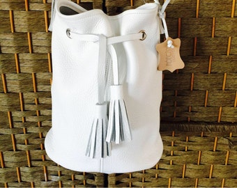 Bucket bag 100% pure leather handmade