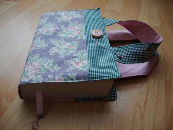 Cloth Book Covers With Handles : Fabric book cover with handles upcycle