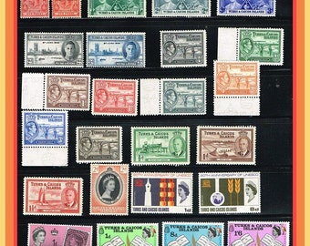 25 Turks and Caicos Mint Stamps