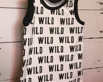 Wild Tank Top/ Organic Tank Top/ Baby Boy/ Toddler Boy/ Organic