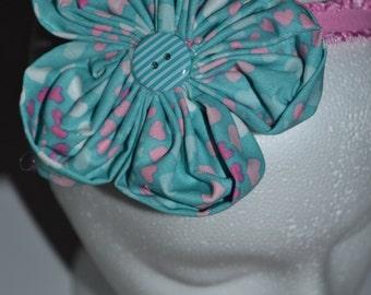 Pink and Blue Girls Headband