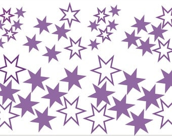 42 x Stickers Decals -  All in 3 sizes - Stars, Rectangles, Honeycombs, Arrows, Squares  - home, vehicles, windows, wall art, crafts.