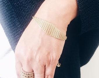 Statement gold bracelet