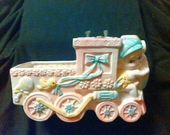 "SALE!!!!! Vintage ""Rubens"" child's musical Train Planter"