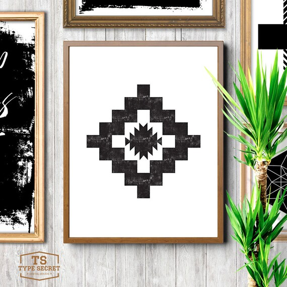 Southwestern decor tribal art mayan print kilim pattern - Ways decorating using kilim print ...