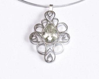 Citrin Silberanhänger / citrine silver pendant