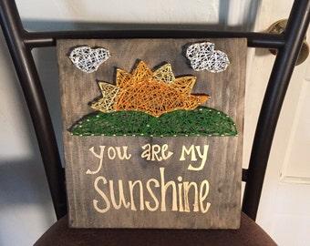 You Are My Sunshine String Art, Custom String Art, You Are My Sunshine, Kids Room Decor