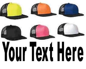 CUSTOM Trucker Hat - ***Place Desired Wording & Lettering Color in Note To Seller***