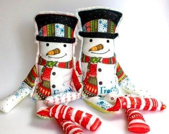 Christmas sewing kit, snowman pattern